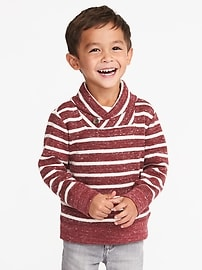 French-Rib Shawl-Collar Sweater for Toddler Boys
