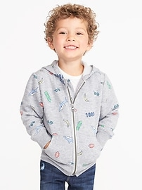 Printed Fleece Hoodie for Toddler Boys