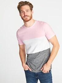 T-shirt à couleurs contrastantes et au fini soyeux pour homme