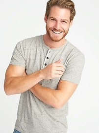 Soft-Washed Henley for Men