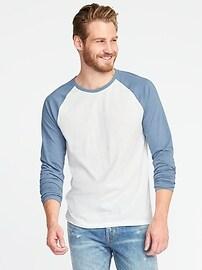 T-shirt raglan à couleurs contrastantes et au fini soyeux pour homme