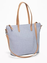 Chambray Canvas Tote for Women