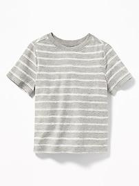 T-shirt col rond à rayures pour tout-petit garçon