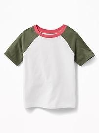 T-shirt raglan à couleurs contrastantes pour tout-petit garçon