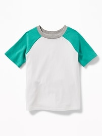 Raglan-Sleeve Color-Block Tee for Toddler Boys