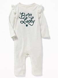 St. Patrick's Day Graphic One-Piece for Baby