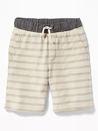 Chambray-Waist Shorts for Boys
