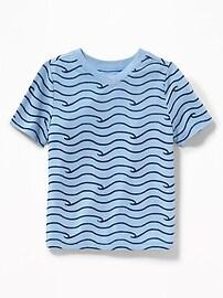 T-shirt à imprimé à col enV pour tout-petit garçon