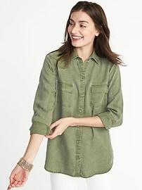 Chemise militaire décontractée en TencelMD pour femme