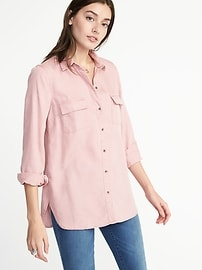 Relaxed Tencel&#174 Utility Shirt for Women