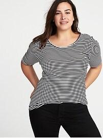 T-shirt en jersey ajusté taille Plus à encolure dégagée