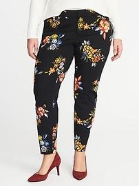 Pantalon Pixie lissant et affinant à taille moyenne, coupe étroite taille Plus