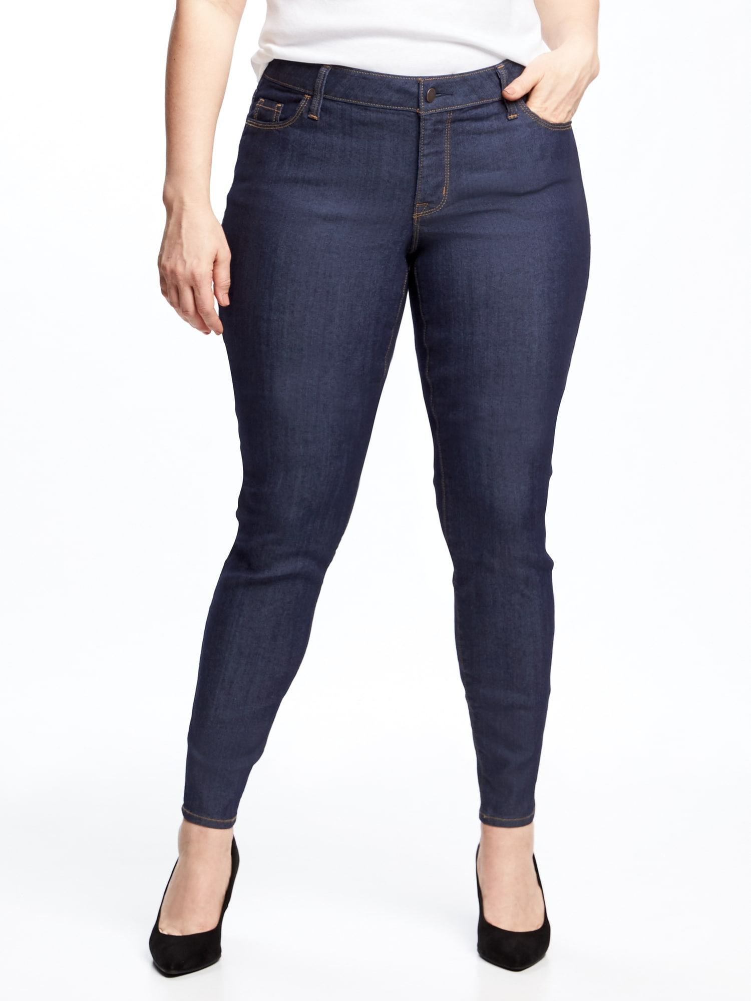 e9debf6c0c84b Mid-Rise Plus-Size Super Skinny Ankle Jeans