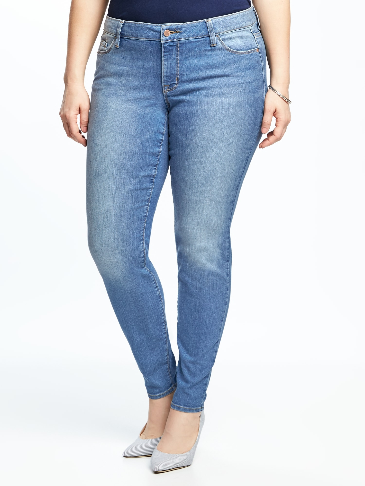 4dfe469e7f7 Mid-Rise Plus-Size Super Skinny Ankle Jeans