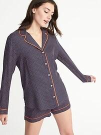 Chemise de nuit en satin pour femme