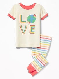 "2-Piece ""Love"" Graphic Sleep Set for Toddler & Baby"
