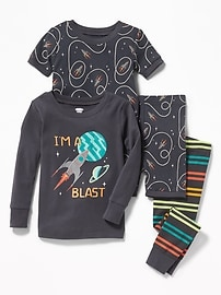 """I'm A Blast"" 4-Piece Sleep Set for Toddler & Baby"