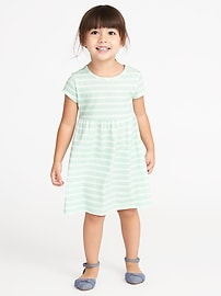 Striped Jersey Babydoll Dress for Toddler Girls
