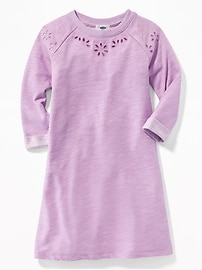French-Terry Cutwork Dress for Girls