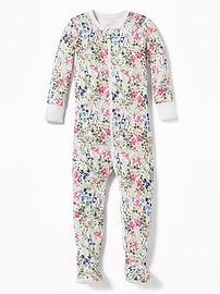 Floral-Print Footed Sleeper for Toddler & Baby