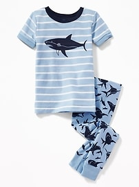 Shark-Graphic Sleep Set for Toddler & Baby
