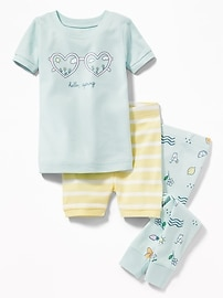 "3-Piece ""Hello, Spring"" Graphic Sleep Set for Toddler & Baby"