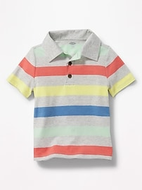Bold-Stripe Jersey Polo for Toddler Boys
