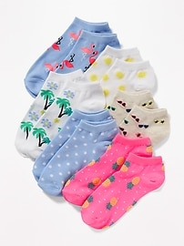 Printed Ankle Socks 6-Pack for Girls