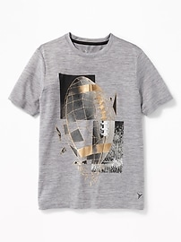 T-shirt Performance à imprimé argenté pour garçon