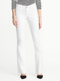 Mid-Rise Clean-Slate Micro-Flare Jeans for Women
