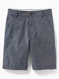 Straight Built-In Flex Madras Shorts for Boys