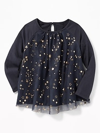 Sparkle Swing Top for Toddler Girls