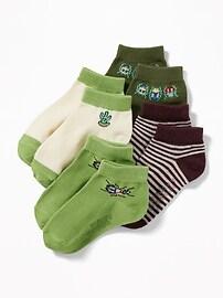 Ankle Socks 4-Pack for Toddler & Baby