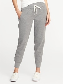 Mid-Rise Moto Performance Joggers for Women