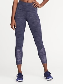 High-Rise 7/8-Length Textured Leggings for Women