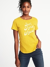T-shirt ras du cou EveryWear à imprimé pour femme