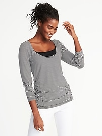 Maternity Fitted Scoop-Neck Nursing Top