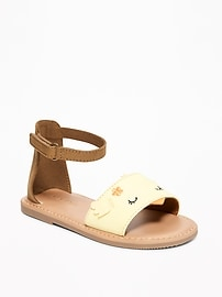 Sueded Chick Sandals for Toddler Girls