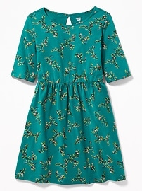 Fit & Flare Jersey Dress for Girls