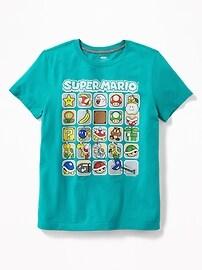 T-shirt à imprimé grille de Super MarioMC pour garçon