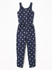 Sleeveless Jersey-Knit Jumpsuit for Girls