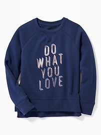 Graphic Hi-Lo Sweatshirt for Girls