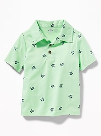 Printed Jersey Polo for Toddler Boys