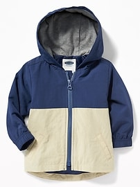 Hooded Color-Block Jacket for Baby
