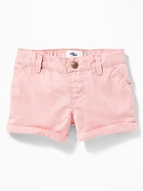 Twill Pull-On Shorts for Toddler Girls