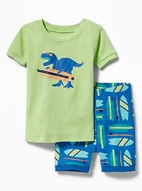 Dinosaur-Surfer Sleep Set for Toddler & Baby