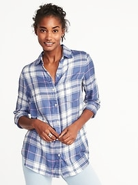 Relaxed Lightweight Twill Shirt for Women