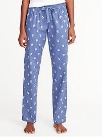 Pantalon de pyjama en popeline pour femme
