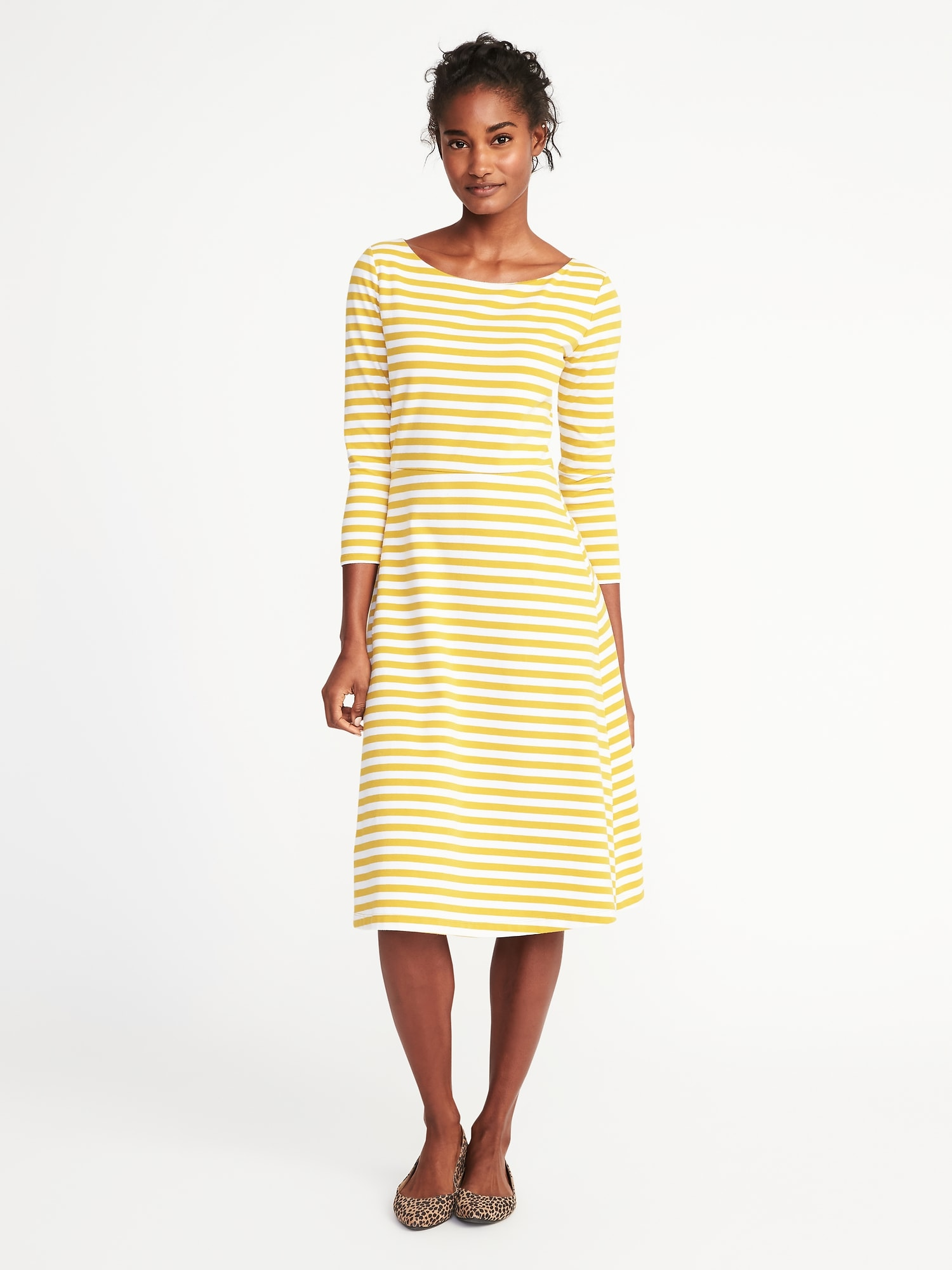 9e4fe7b079 Fit & Flare Midi Dress for Women | Old Navy