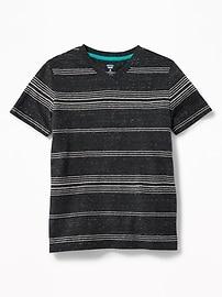 T-shirt rayé le plus doux à col enV pour garçon